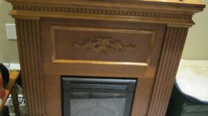 Electric Fireplace solid wood with remote