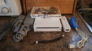 Nintendo Wii System With Wii Remote, Nunchuk And 2 Games!