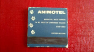 Matchbook Cover-ANIMOTEL, Hotel for Pets Kitchener / Waterloo Kitchener Area image 2