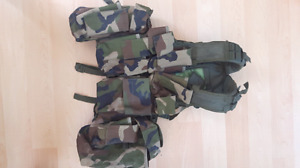 Military load bearing vest in woodland camouflage $100 obo
