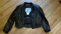 Bristol leather insulated motorcycle jacket
