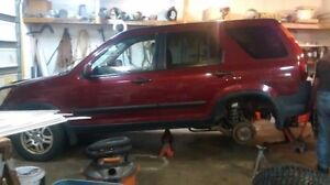 2004 Honda CRV Rear subframe and propellor shaft (4WD)