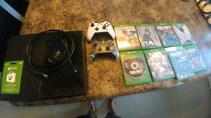 Xbox one, extra controller, games and a gift card