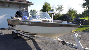 2009 Legend Xcalibur 16 - 75 HP Mercury Optimax & Trailer
