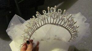 Bridal Head Piece/Organza Bouquet