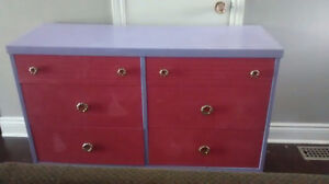 Little girls dresser pink and purple