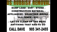 GARBAGE, RUBBISH, DUMP LOAD REMOVAL
