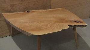 Solid Maple Hand-crafted Live Edge Coffee Table