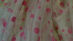 Pink polka dot grommet curtains London Ontario image 2