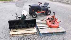 1977 craftsman st/10 lawn tractor and attachments