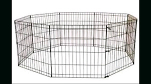 8 pannel great for pets silver play pen