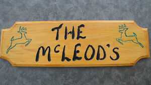 Custom Wooden Personalized Signs