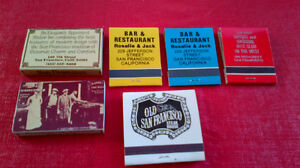 Matchbook Covers & Boxes of Matches-San Francisco, California Kitchener / Waterloo Kitchener Area image 2
