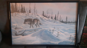 Ducks Unlimited wolf painting print