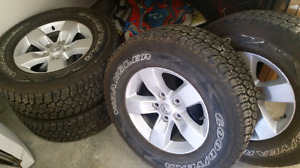 4 Goodyear truck tires 265/70R17 with Ram rims