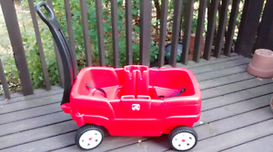 Wagon - Step 2 - Kids Red two seat wagon