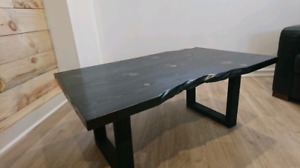 True Black Live Edge Signature Table