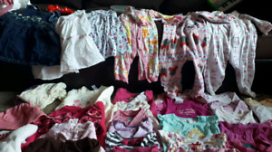 Girls 6-12 month wardrobe, over 60 items included!2