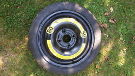 Space saver spare wheel with tyre