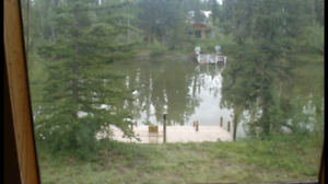 1 bedroom plus loft log home for rent on waterfront property