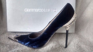 BREATHTAKING GIANMARCO LORENZI SPECIAL COUTURE JEWELED PUMPS