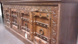 50% OFF Carved & Rustic Wood TV Cabinet, Stand or Shelving