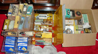 Record Player stylus ( needles), Cartriges 45 auto adapters, etc