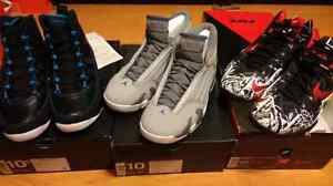 Deadstock jordan 9 and 14 and Lebron 11