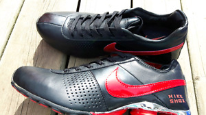 Brand new black and red nike shox