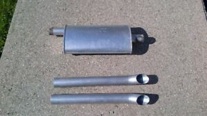 2 x TAILS PIPES & MUFFLER 2 1/2'' MASTERFLOW
