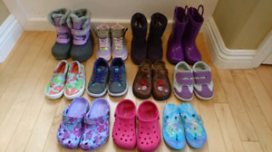 Girl's shoes & boots size 8