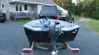 G3 boat with 9.9 Yamaha motor