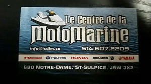 Le centre de la motomarine ( réparation , pieces etc )