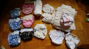 Newborn and Small cloth diapers