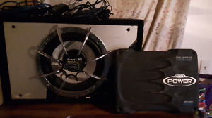 12 inch Clarion sub with amp and wire
