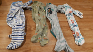 Boys sleepers 6-12 months. All for $10