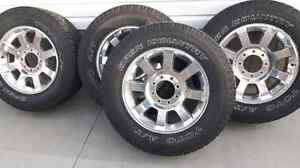 F-350 RIMS WITH LT275/65/20 TOYO TIRES