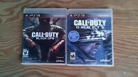 ****BLACK OPS AND GHOST FOR SALE ( PLAYSTATION 3) ****