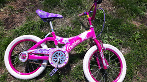 Small girls Barbie bicycle with bell