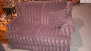 Plum coloured loveseat
