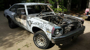 1977 chevy nova project chevrolet rolling chassis body ss rs 77