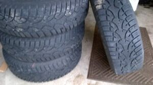 215/70/15 General Altimax Winter tires and Rims