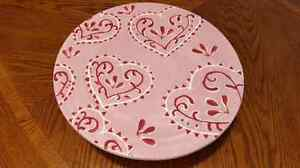 Valentine Footed Cake Plate