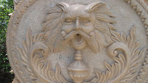 Beautiful Large Hand Carved Italian White Marble Wall Fountain Edmonton Edmonton Area image 2