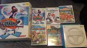Nintendo Wii games and accessories..Mariokart with brand new whe