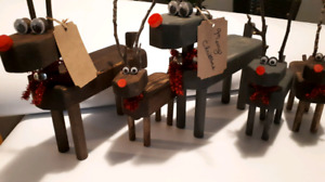 Christmas Wood Reindeer.