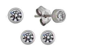 9ct white gold gemstone earrings