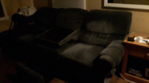 Sofa with 2 End Recliners Middle Console & Storage