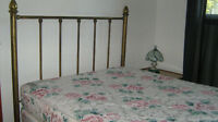 Antique Brass Bed and Double Mattress Set