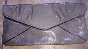 BCBG Maxazria patent leather clutch